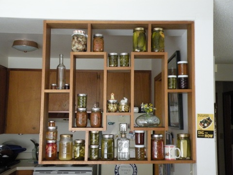 Photograph of some of my canning & preserves
