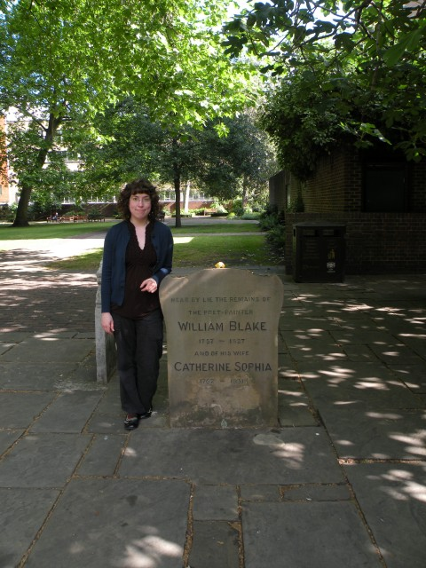 Image of me (the author) standing at William's grave stone